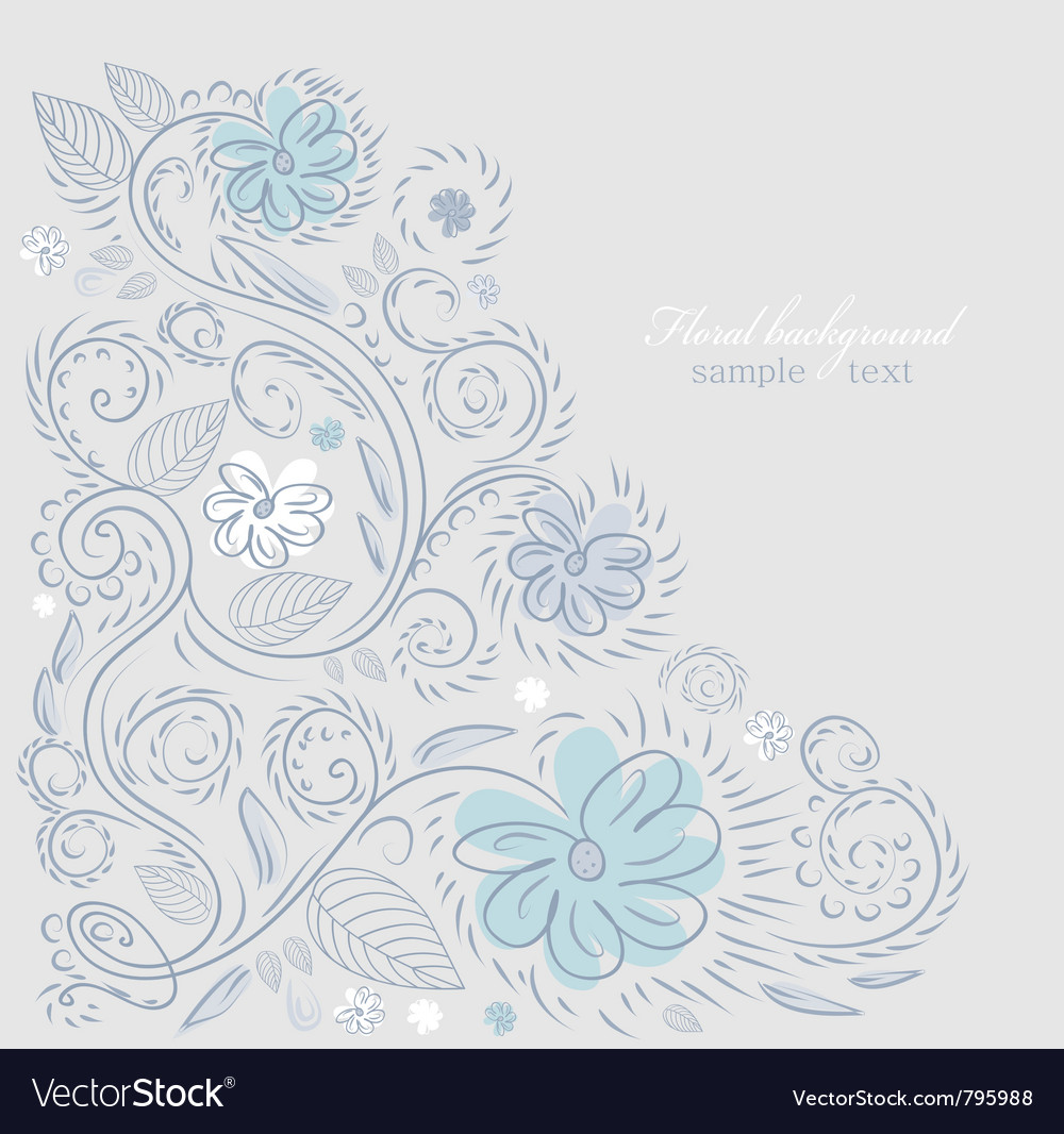 Summer floral design vector | Price: 1 Credit (USD $1)