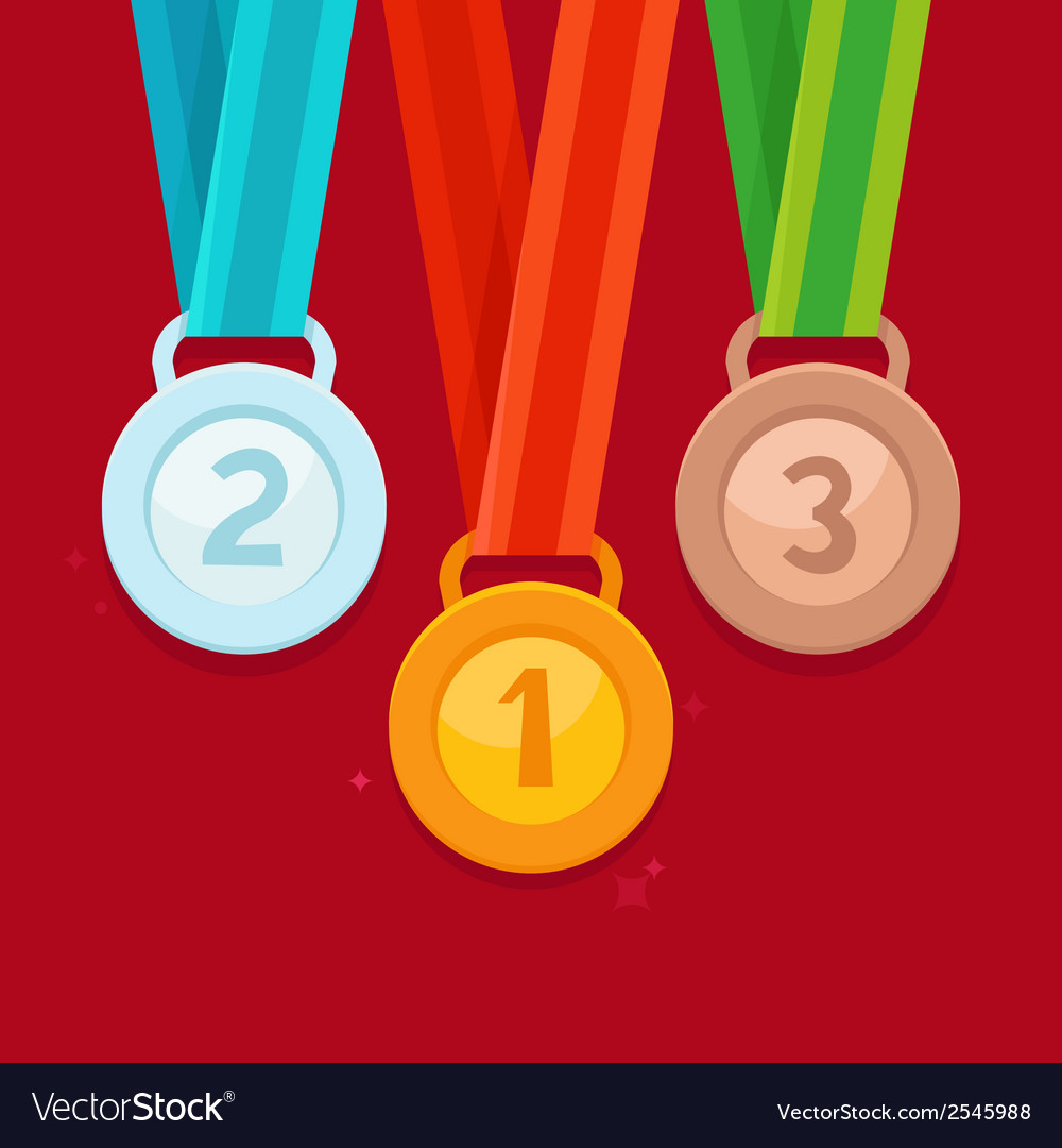 Three winning places concept vector | Price: 1 Credit (USD $1)