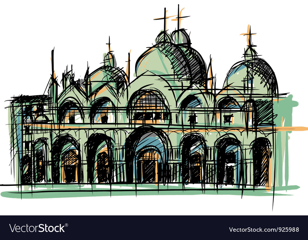 Venice church vector | Price: 1 Credit (USD $1)