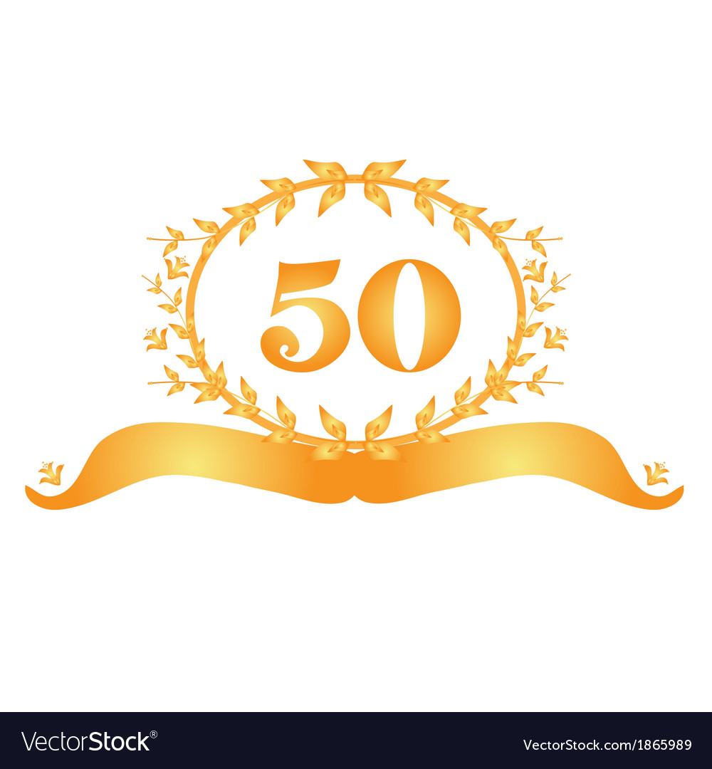 50th anniversary banner vector | Price: 1 Credit (USD $1)