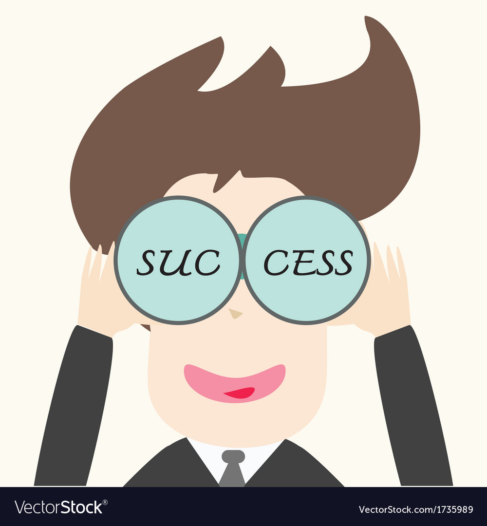 Business man looking success vector | Price: 1 Credit (USD $1)