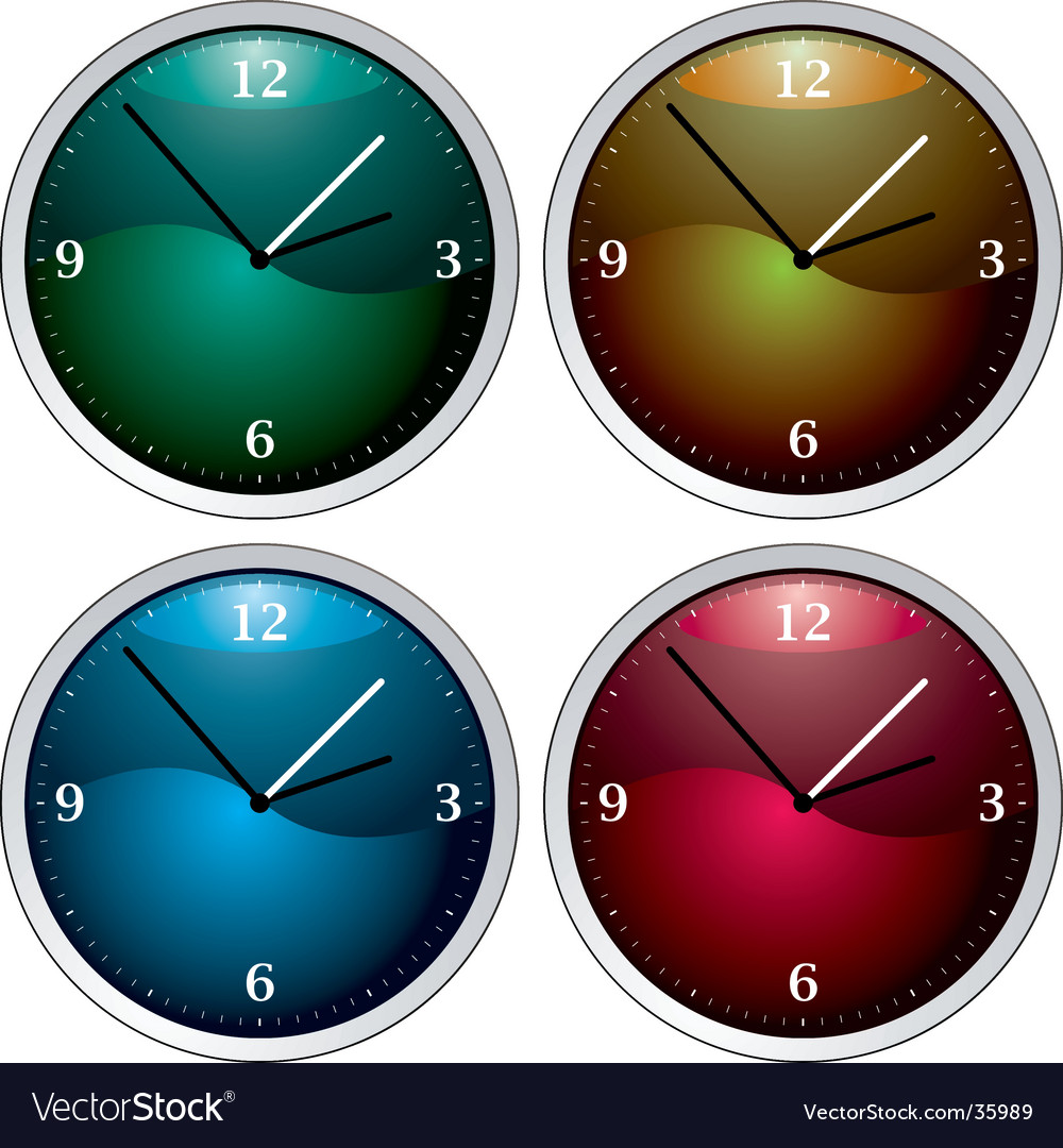 Clock variation vector | Price: 1 Credit (USD $1)