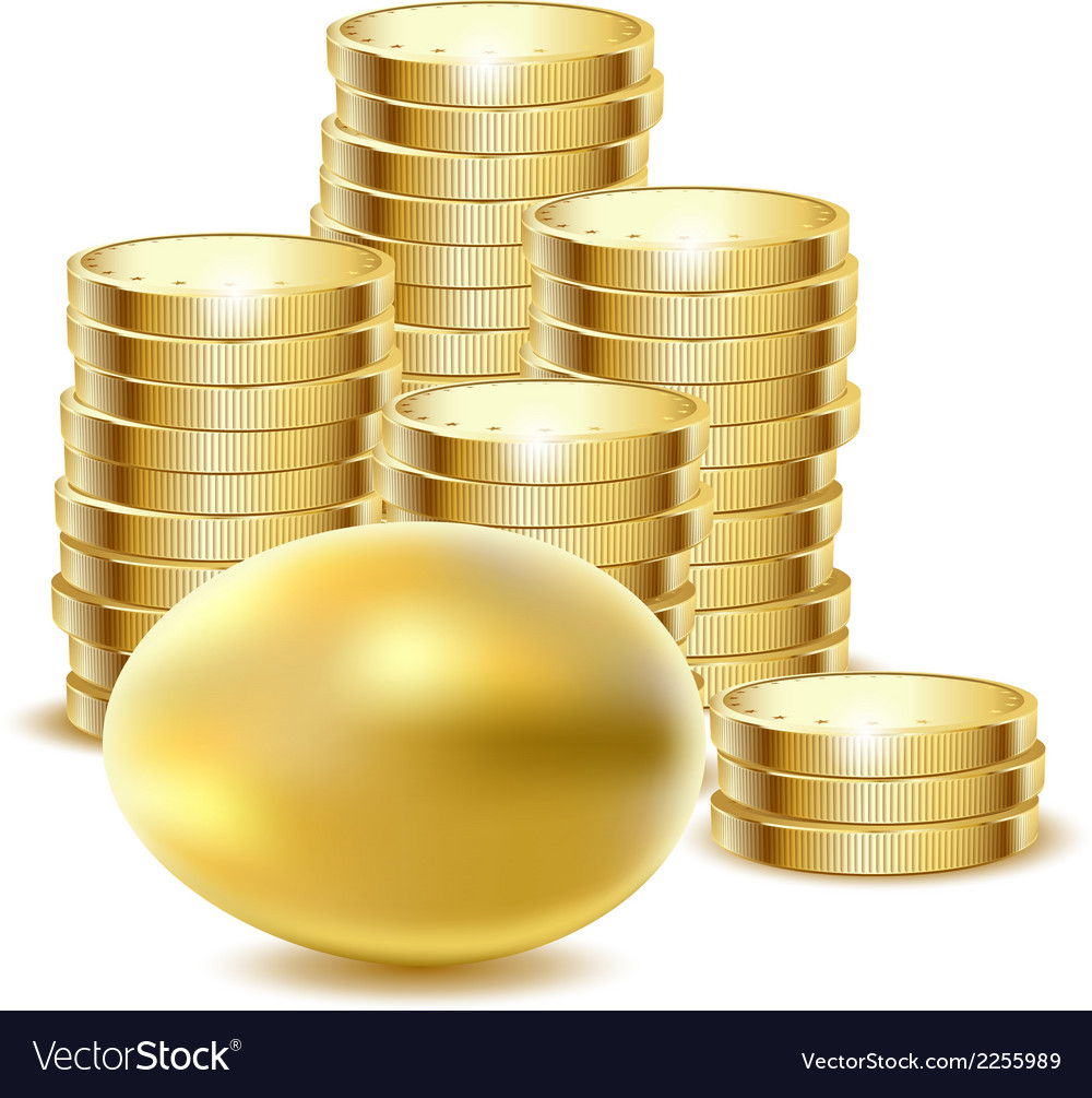 Coins gold egg vector | Price: 1 Credit (USD $1)