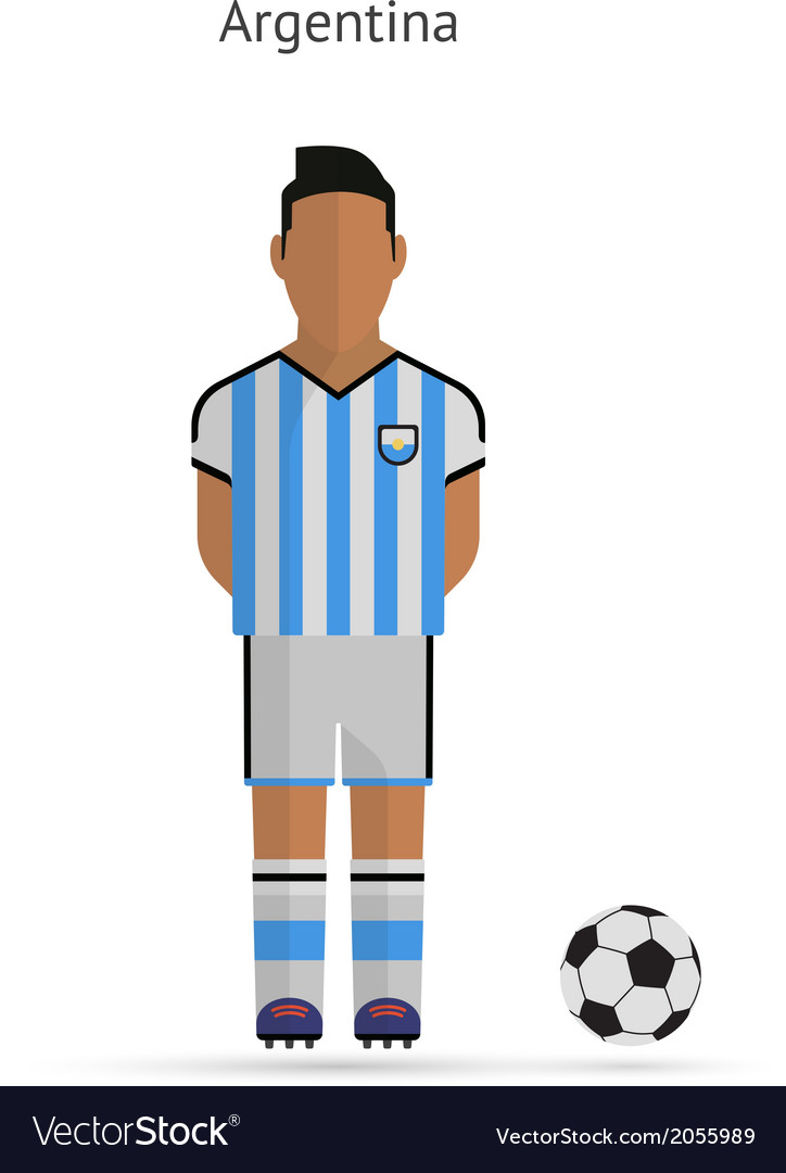 National football player argentina soccer team vector | Price: 1 Credit (USD $1)