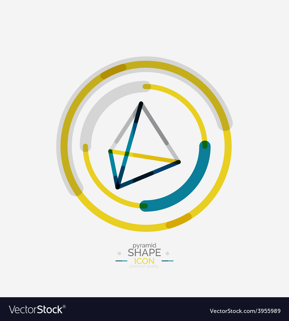 Pyramid shape line design vector   Price: 1 Credit (USD $1)