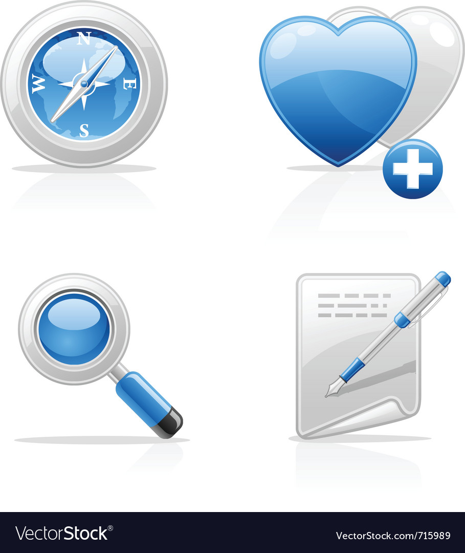 Site navigation icons vector | Price: 3 Credit (USD $3)