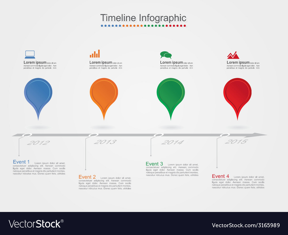 Timeline infographics with icons vector | Price: 1 Credit (USD $1)