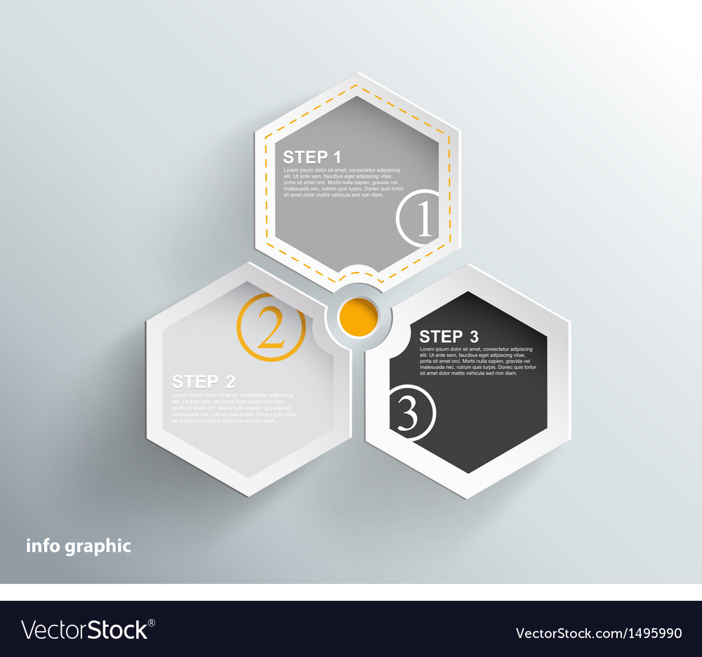 3 cards with numbers and place for your text vector | Price: 1 Credit (USD $1)