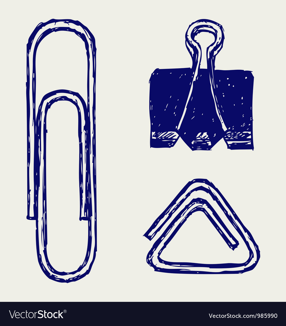 A paper clip vector | Price: 1 Credit (USD $1)