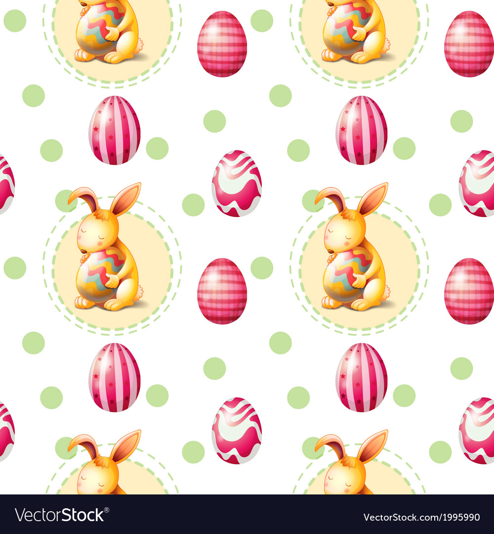A seamless easter sunday template vector | Price: 1 Credit (USD $1)