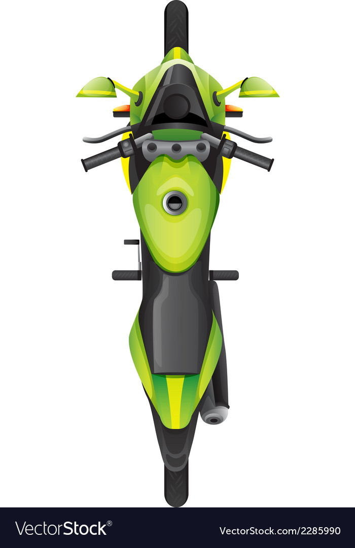 A topview of a motorcycle vector | Price: 1 Credit (USD $1)