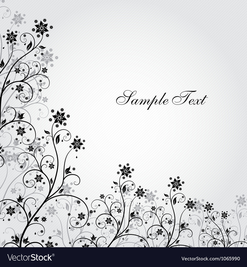 Black and white grunge flower vector   Price: 1 Credit (USD $1)