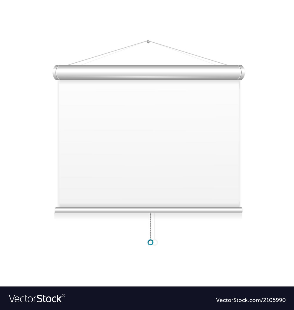 Blank roll up poster template vector | Price: 1 Credit (USD $1)