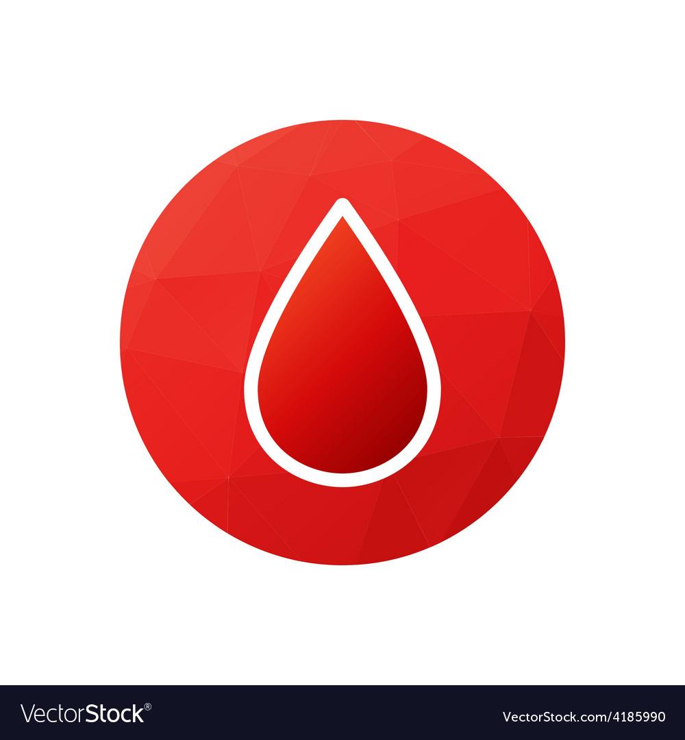 Blood donation symbol or logo vector | Price: 1 Credit (USD $1)