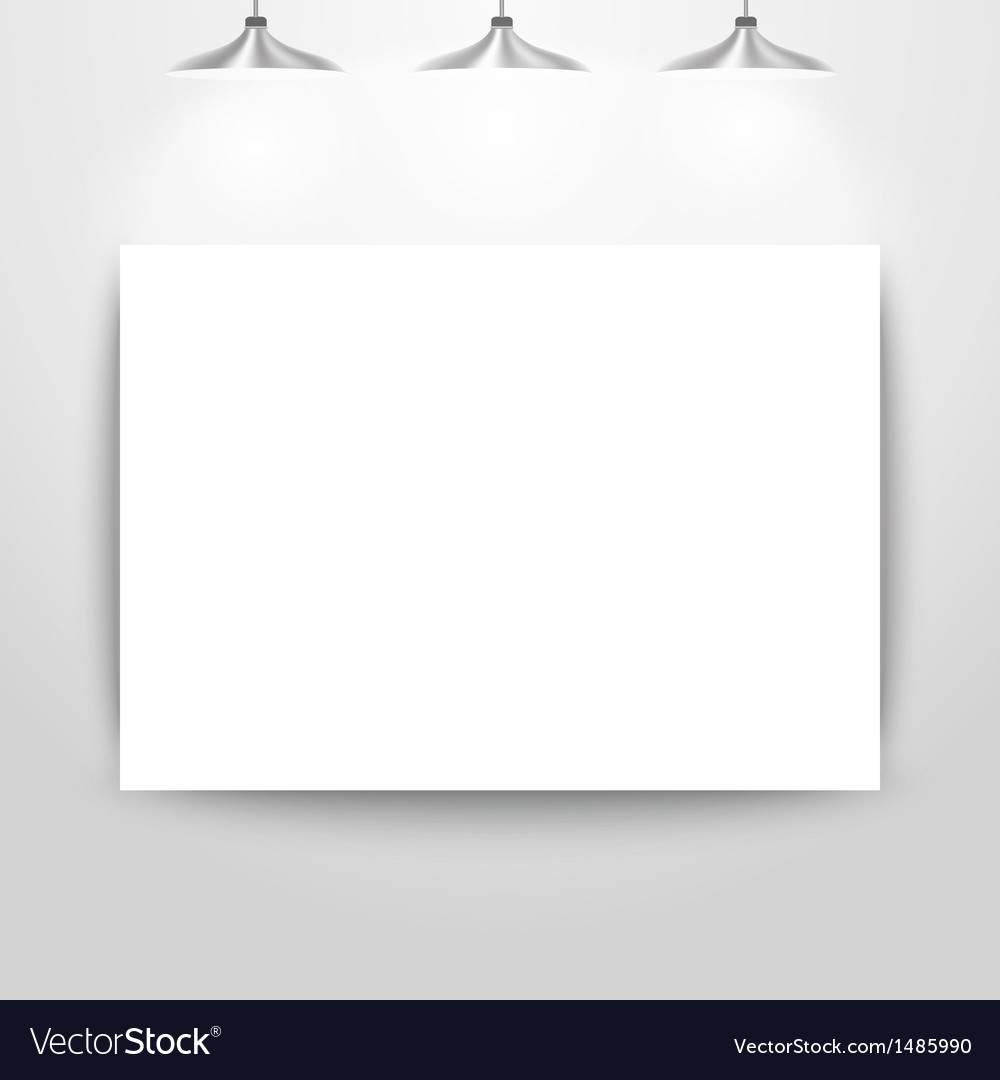 Empty gallery wall for images and advertisement vector | Price: 1 Credit (USD $1)