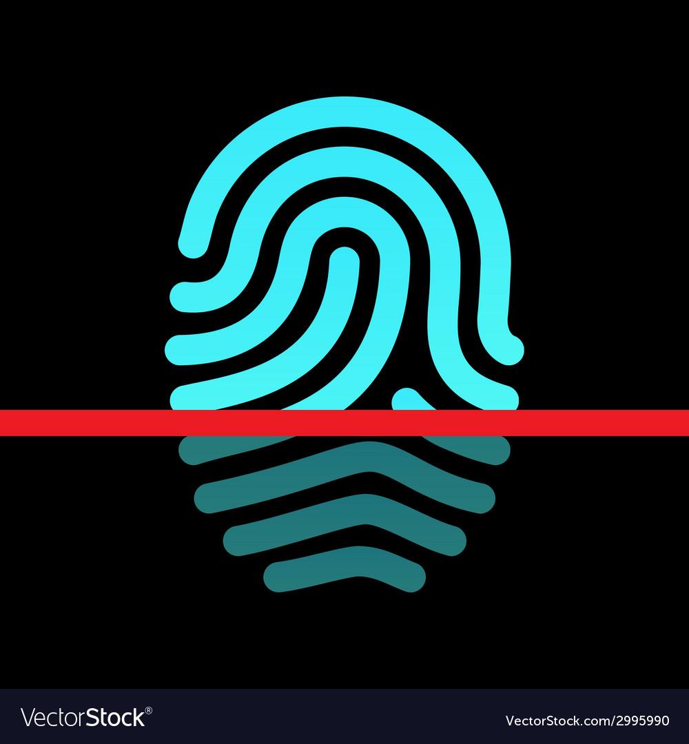 Fingerprint identification system - loop type icon vector | Price: 1 Credit (USD $1)