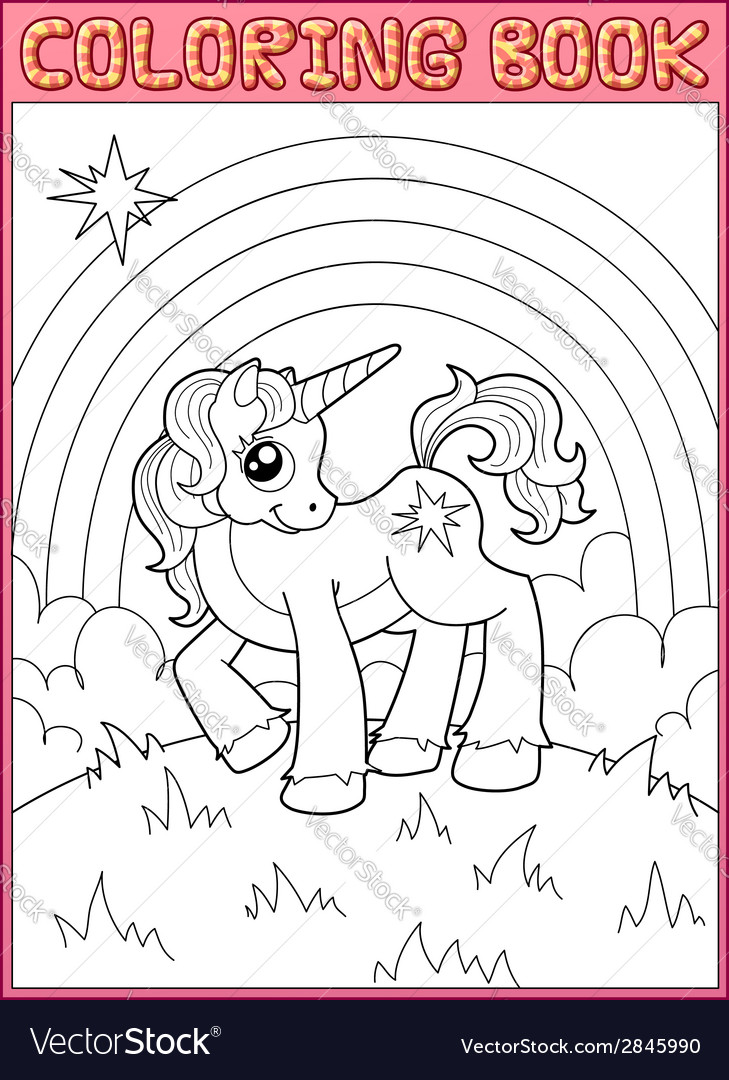 Little unicorn vector