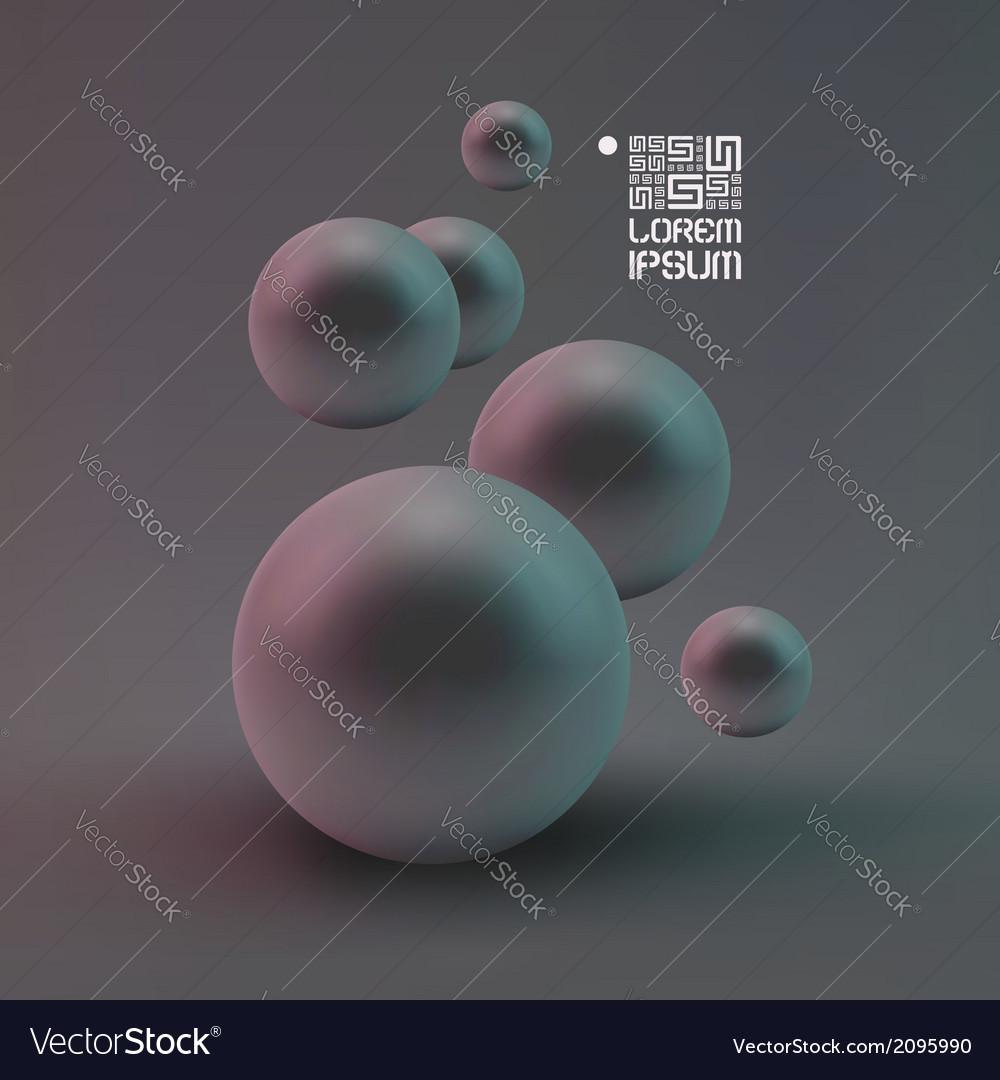 Random spheres background vector | Price: 1 Credit (USD $1)