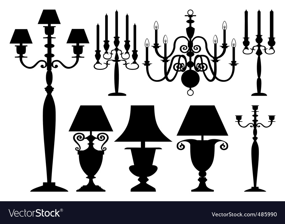 Set of antique lighting vector | Price: 1 Credit (USD $1)