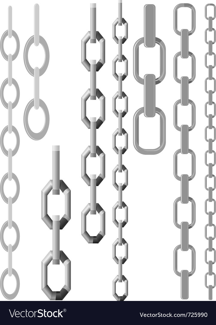 Set of chains vector | Price: 1 Credit (USD $1)