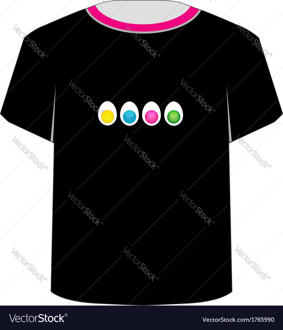 T shirt template- colorful eggs vector   Price: 1 Credit (USD $1)