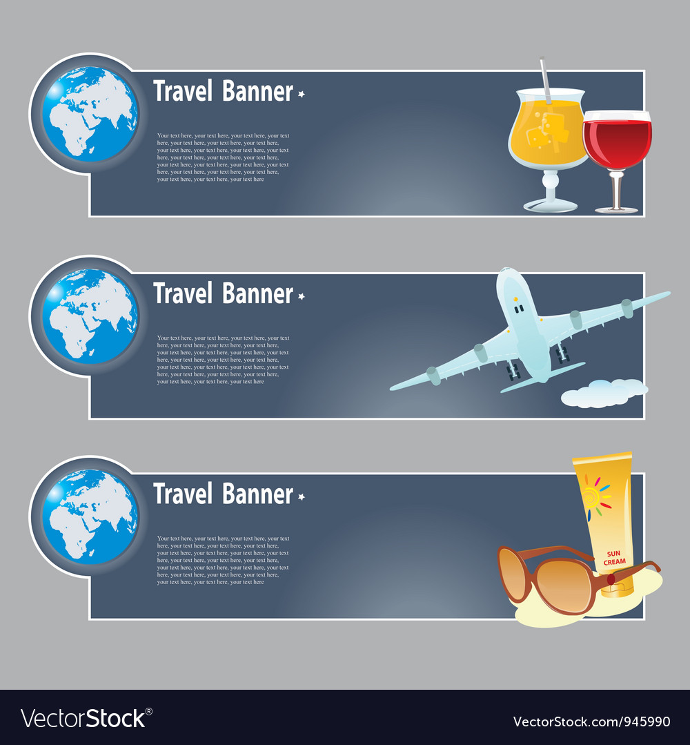 Travel banners vector   Price: 3 Credit (USD $3)
