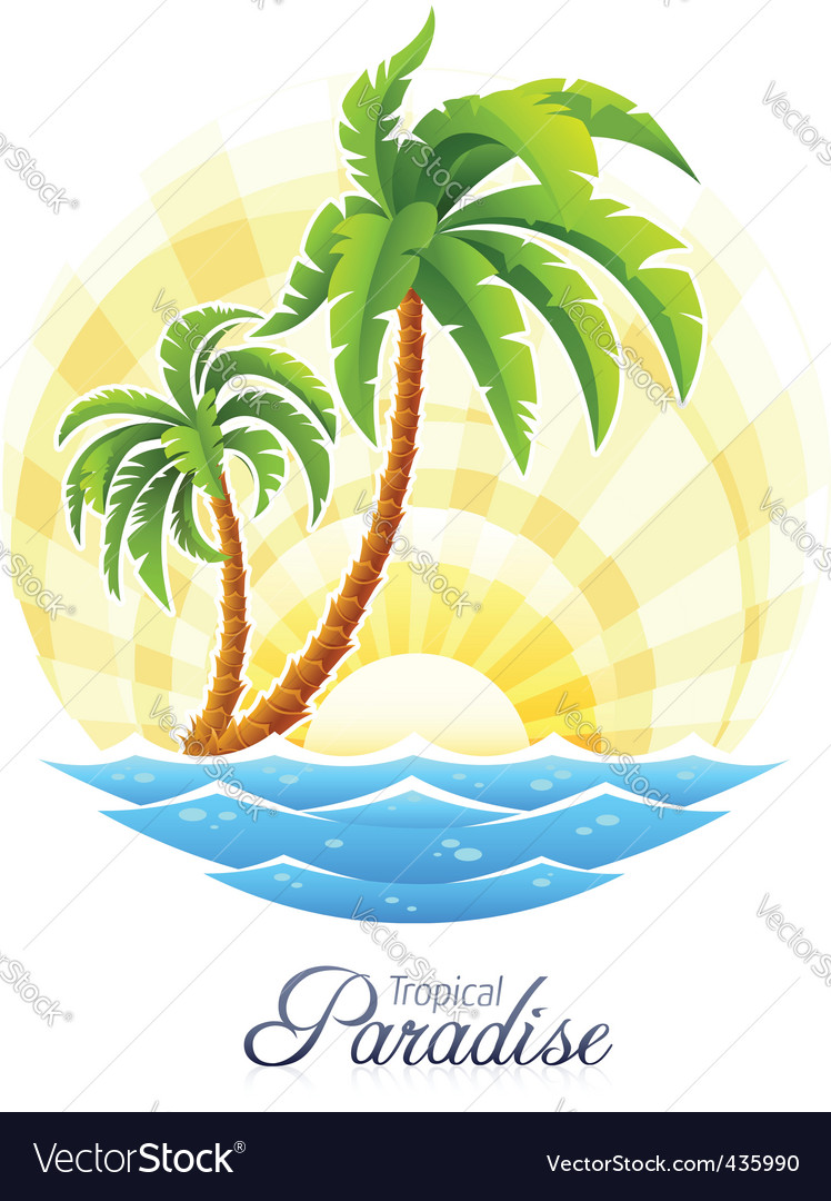 Tropical palm vector | Price: 3 Credit (USD $3)