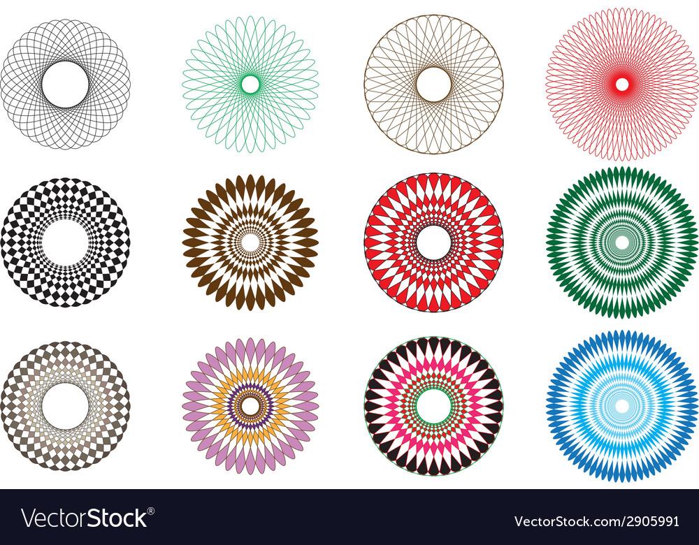 A set of spirograph spirals vector | Price: 1 Credit (USD $1)
