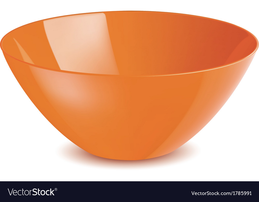 Bowl isolated vector | Price: 1 Credit (USD $1)