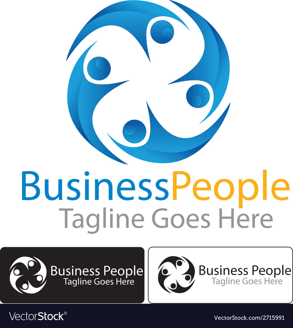 Business people logo vector | Price: 1 Credit (USD $1)