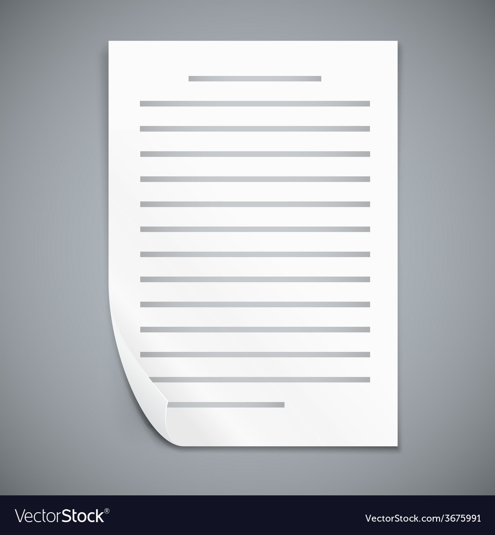 Empty paper three sheets vector | Price: 1 Credit (USD $1)