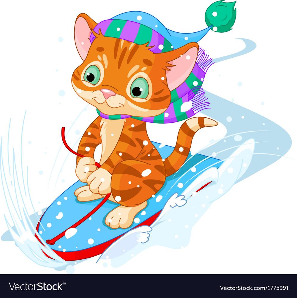 Fast fun kitten vector | Price: 3 Credit (USD $3)