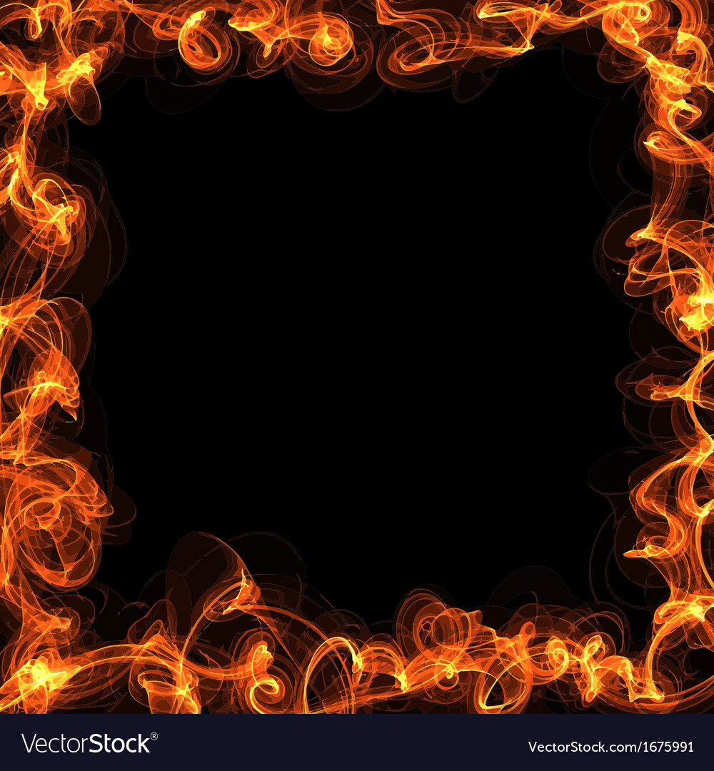 Fire frame vector | Price: 1 Credit (USD $1)