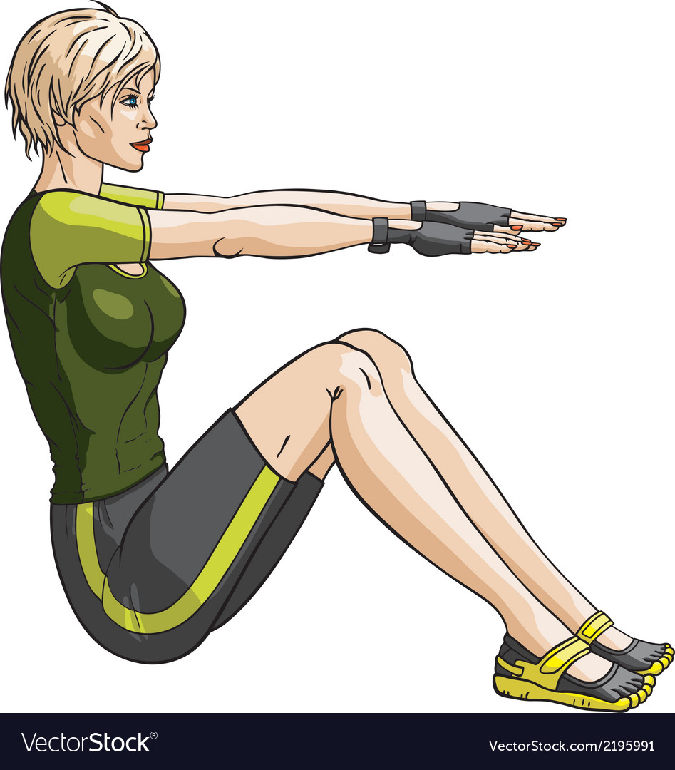 Fitness press vector | Price: 1 Credit (USD $1)