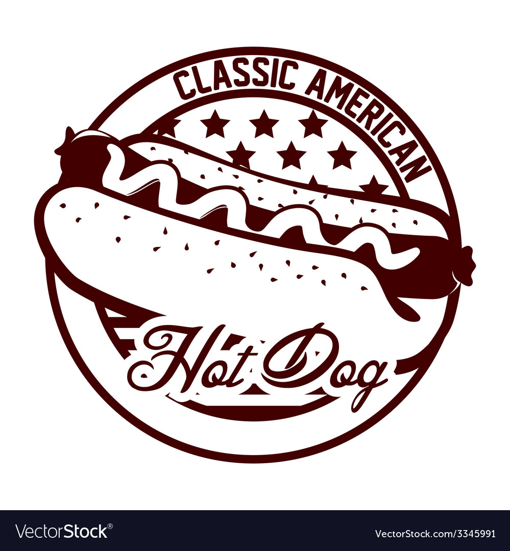 Hot dog design vector | Price: 1 Credit (USD $1)