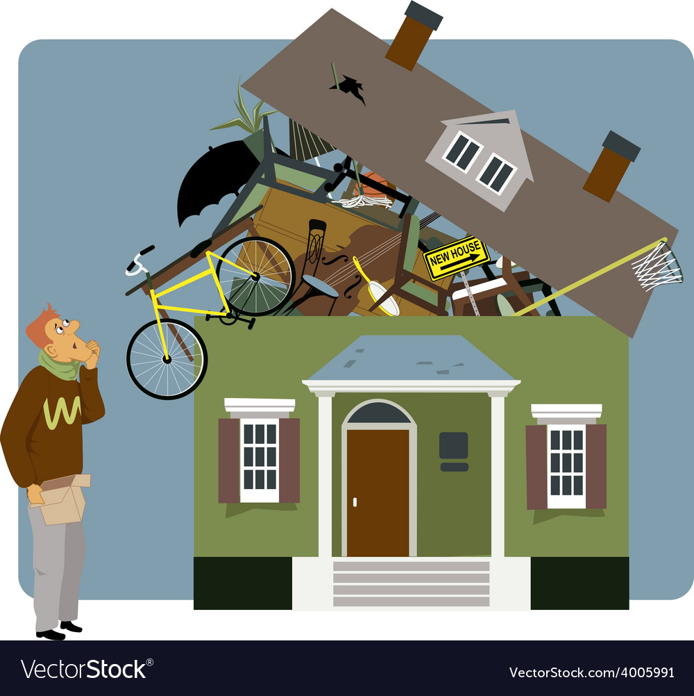 Packing a house vector | Price: 3 Credit (USD $3)