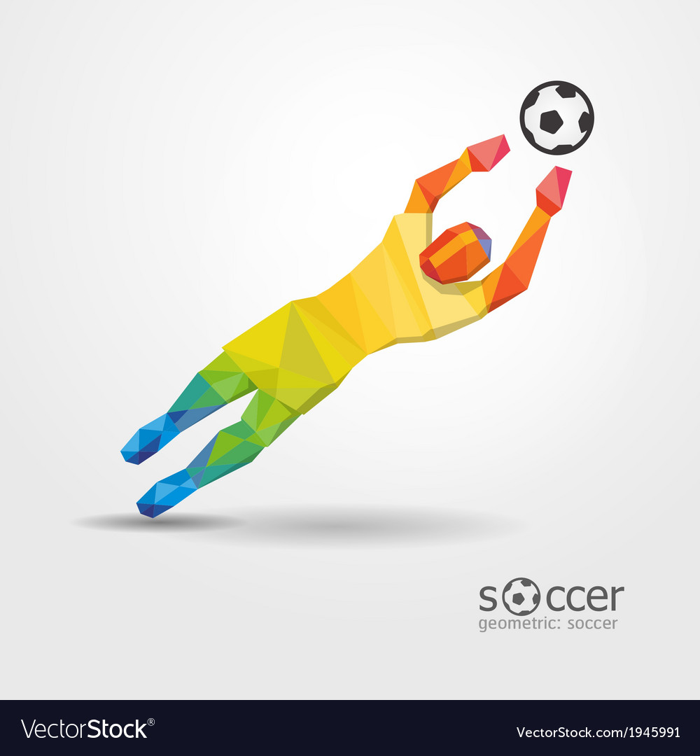 Soccer football goalkeeper player geometric vector | Price: 1 Credit (USD $1)