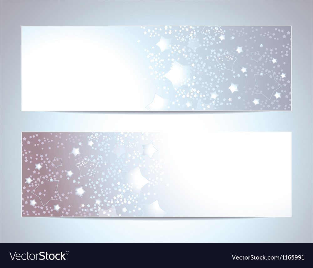 Two abstract banners backgrounds vector | Price: 1 Credit (USD $1)