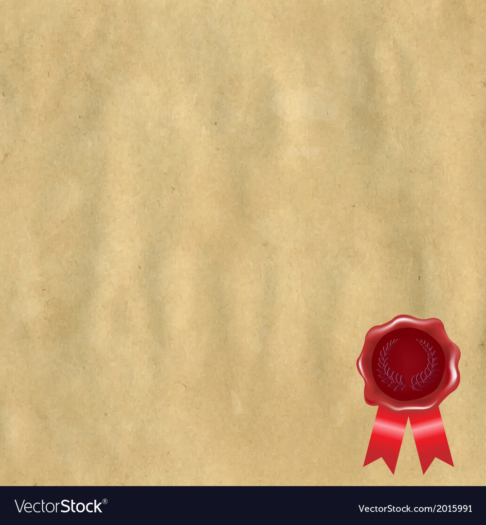 Wax seal with old paper vector | Price: 1 Credit (USD $1)