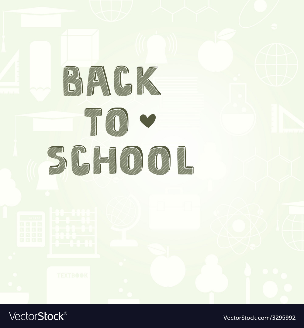 Back to school template vector | Price: 1 Credit (USD $1)