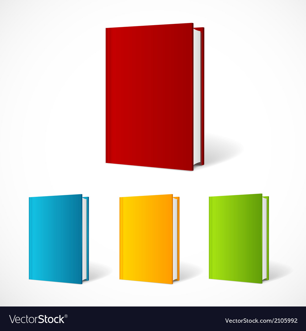 Book cover set perspective vector | Price: 1 Credit (USD $1)