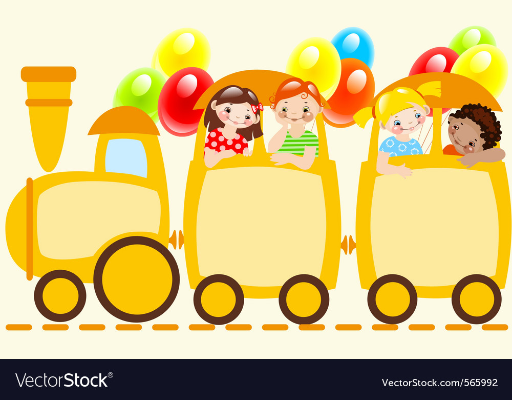 Children train vector | Price: 1 Credit (USD $1)