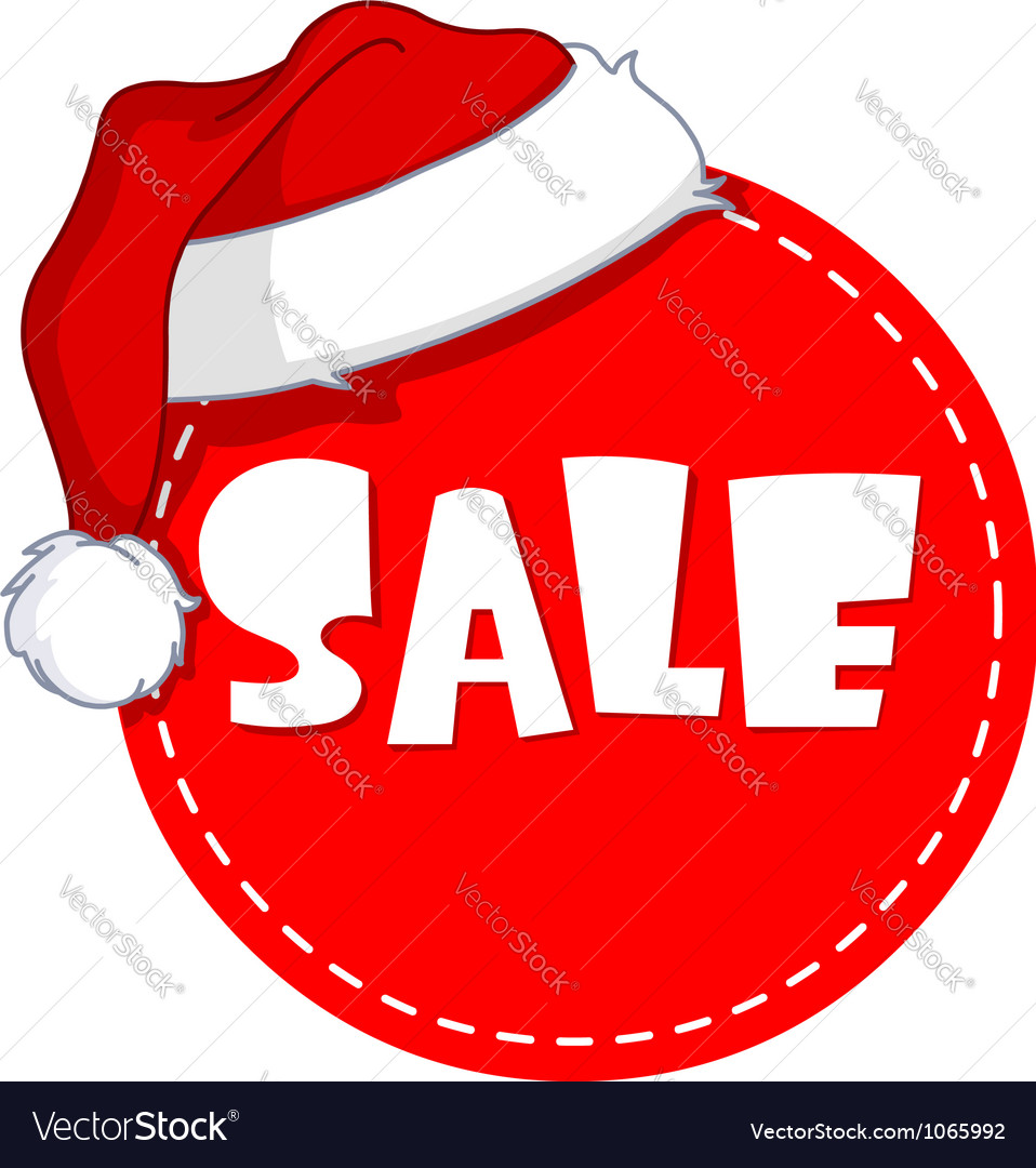 Christmas sale tag vector | Price: 1 Credit (USD $1)