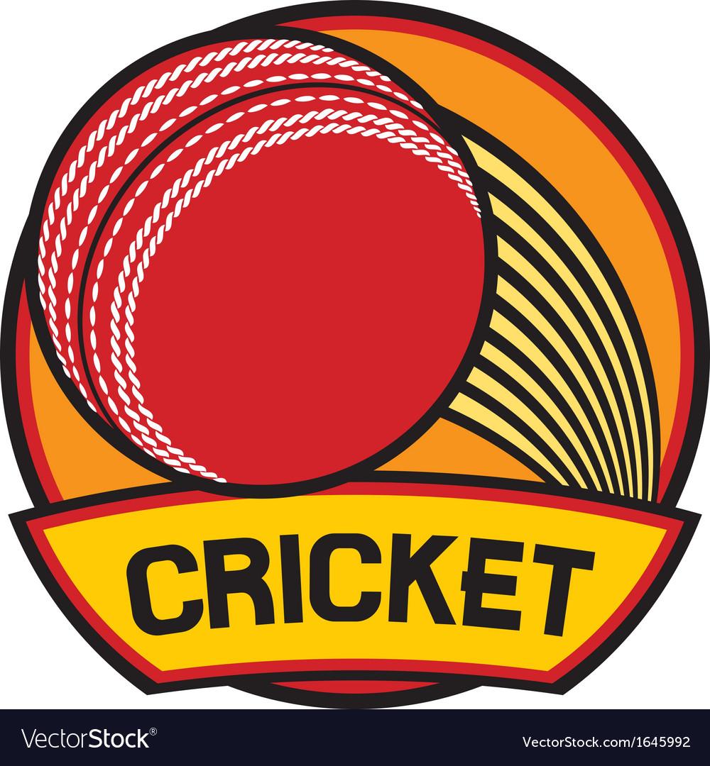 Cricket symbol cricket label vector | Price: 1 Credit (USD $1)