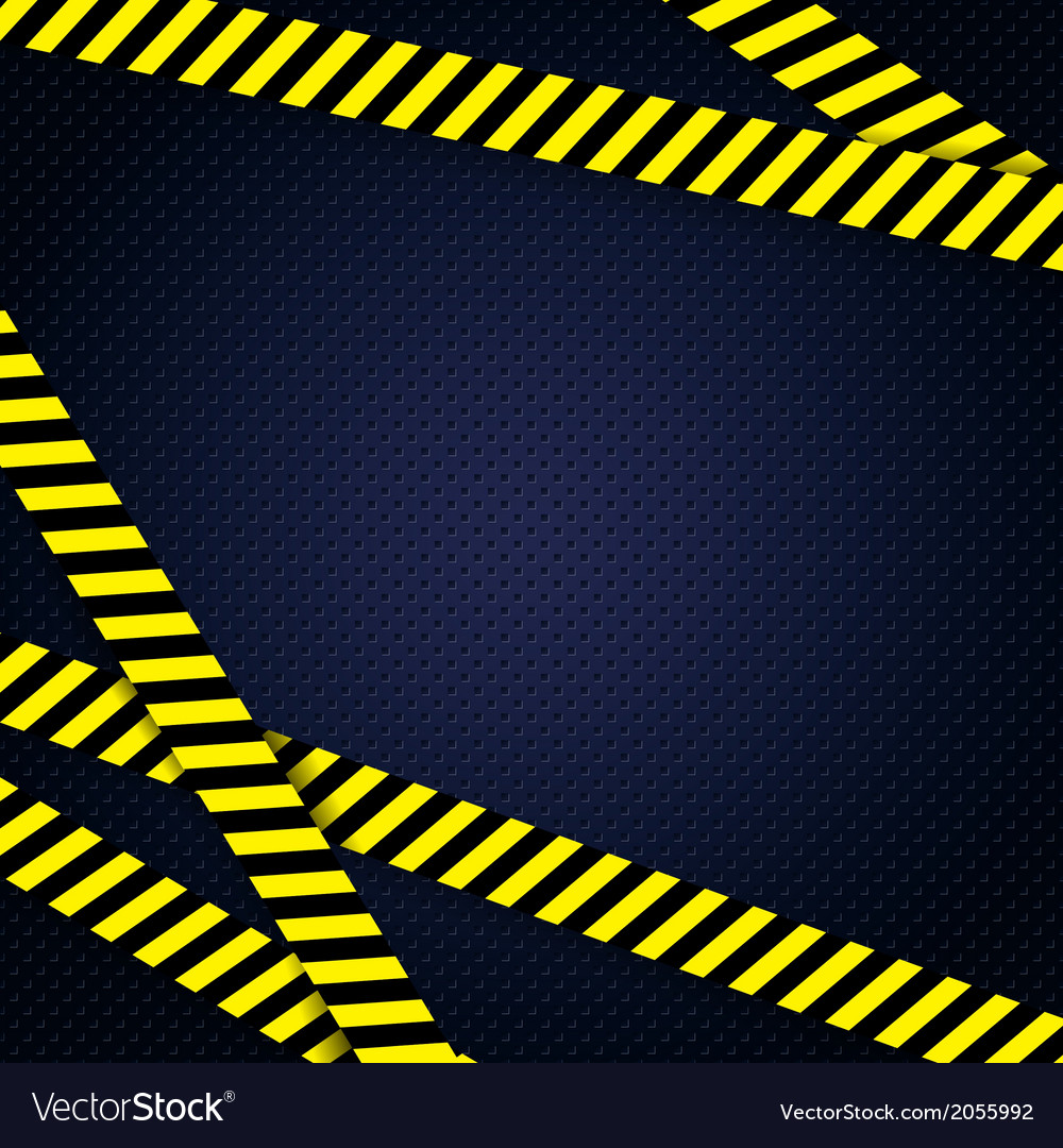 Danger yellow tape grunge background vector | Price: 1 Credit (USD $1)