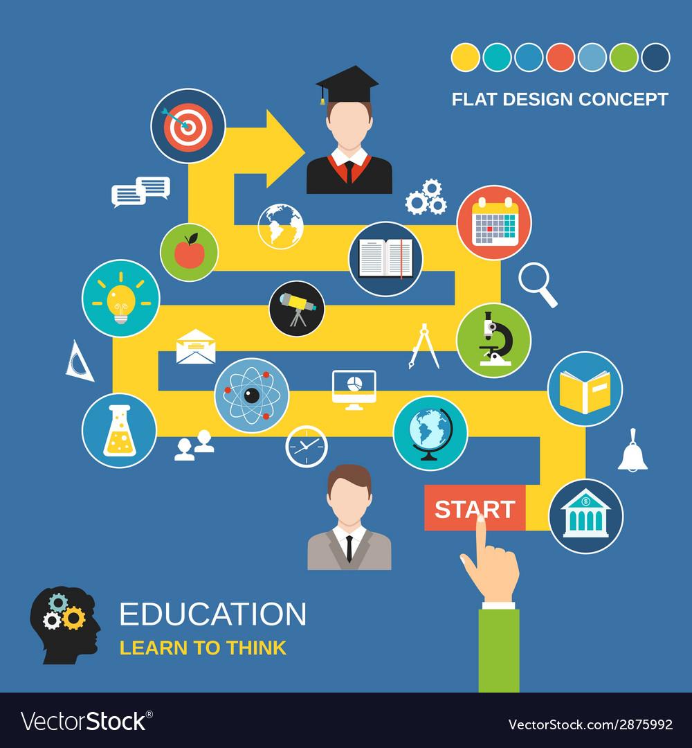Education process concept vector | Price: 1 Credit (USD $1)