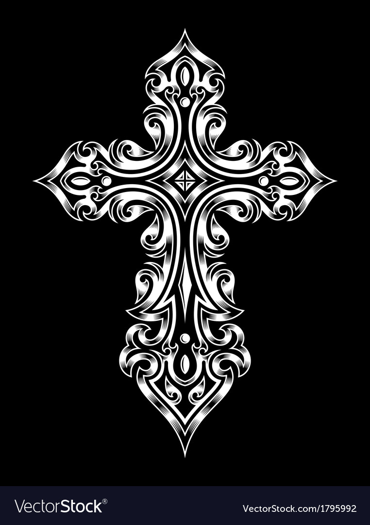 Gothic cross vector | Price: 1 Credit (USD $1)