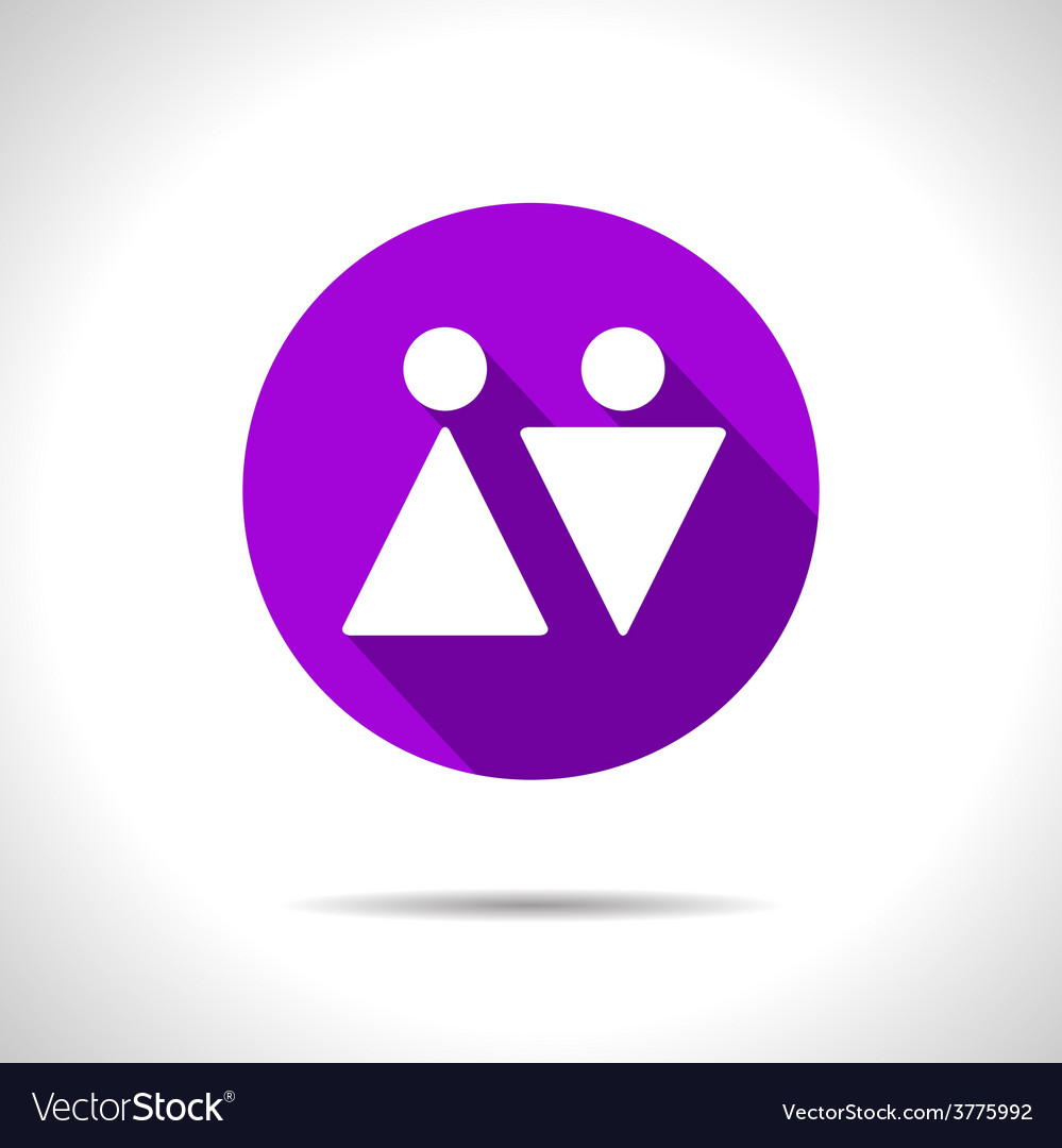 Heterosexual couple icon eps10 vector | Price: 1 Credit (USD $1)