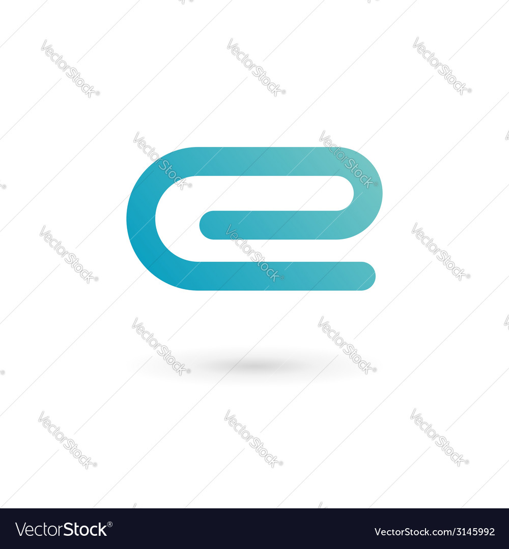 Letter e clip logo icon vector | Price: 1 Credit (USD $1)