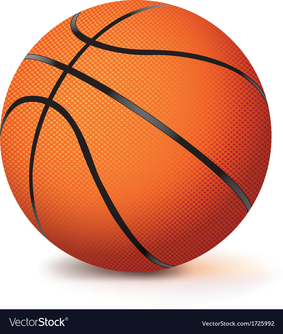 Realistic basketball isolated on white vector | Price: 1 Credit (USD $1)